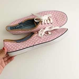 Pink Polka dot Keds Size 10 Women's Sneakers